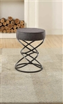 Yara Regular Height Stool in Black by Home Elegance - HEL-4508-SH