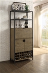 Barolo Wine Cabinet in Natural by Home Elegance - HEL-4517