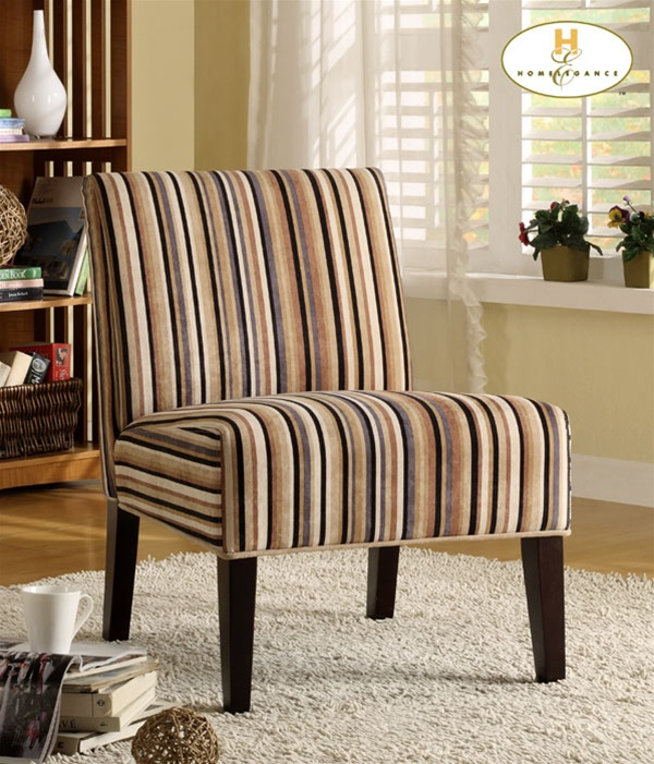 Lifestyle Modern Swirl Fabric Armless Lounge Chair By