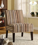 Lifestyle Classic Multi-Colored Stripe Fabric Armless Lounge Chair by Homelegance - 468F7S