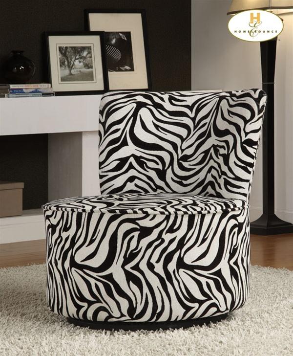 Easton Brown Geometric Pattern Fabric Swivel Lounge Chair