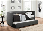 Therese Daybed with Trundle in Grey by Home Elegance - HEL-4969GY