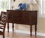 Creswell Server in Rich Cherry by Home Elegance - HEL-5056-40