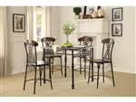 Loyalton 5 Piece Counter Height Dining Set in Wood/Metal by Home Elegance - HEL-5149-36-5