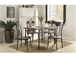 Loyalton 5 Piece Dining Set in Wood/Metal by Home Elegance - HEL-5149-48-5