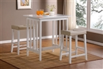Scottsdale 3 Piece Counter Height Set in White by Home Elegance - HEL-5310W