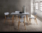 Orpheus 5 Piece Dining Set in Pine by Home Elegance - HEL-5515GY-5
