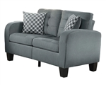 Sinclair Love Seat in Gray by Home Elegance - HEL-8202GRY-2