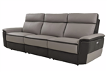 Laertes Power Double Reclining Sofa in Taupe by Home Elegance - HEL-8318-3PW