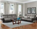 Laertes 2 Piece Power Double Reclining Sofa Set in Taupe by Home Elegance - HEL-8318-PW