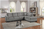 Emilio Sectional Sofa in Taupe by Home Elegance - HEL-8367TP