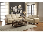 Rubin 2 Piece Sofa Set in Taupe by Home Elegance - HEL-9734TP