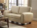Rubin Love Seat in Taupe by Home Elegance - HEL-9734TP-2