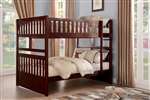 Rowe Full/Full Bunk Bed in Dark Cherry by Home Elegance - HEL-B2013FFDC-1