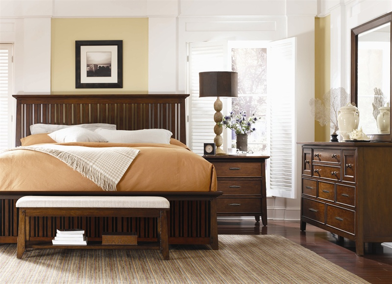 Bedford Hills Slat Bed 6 Piece Bedroom Set in Cherry Finish by Hooker  Furniture HF 1010 91350. Bedford Hills Slat Bed 6 Piece Bedroom Set in Cherry Finish by