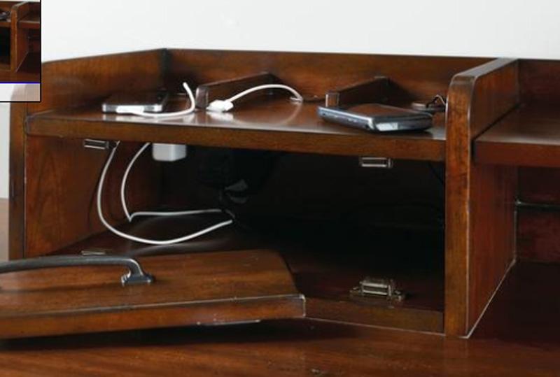 Wendover 4 Piece Corner Desk Unit in Cherry Finish by Hooker ...