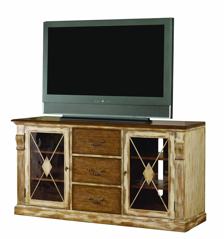 Sanctuary 70 inch entertainment console in dune beach for 70 inch console table