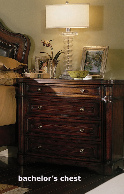 wynterhall panel bed 6 piece bedroom set in rich warm brown finish by hooker furniture hf34290240