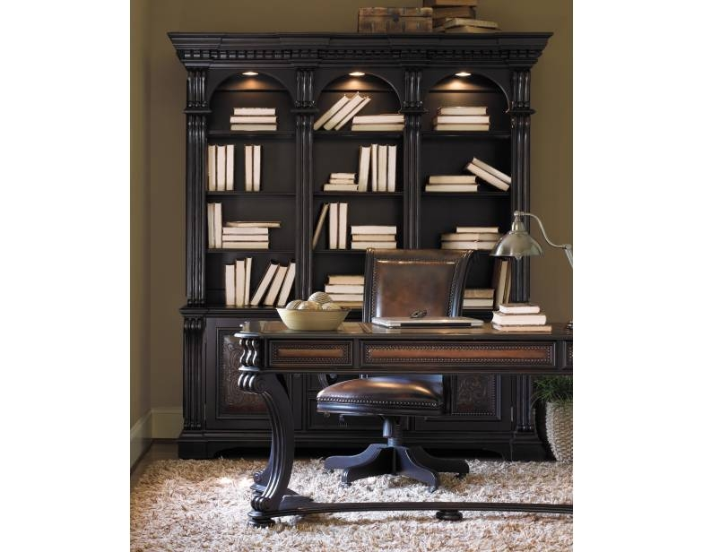 Telluride Writing Desk in Distressed Black Finish by Hooker