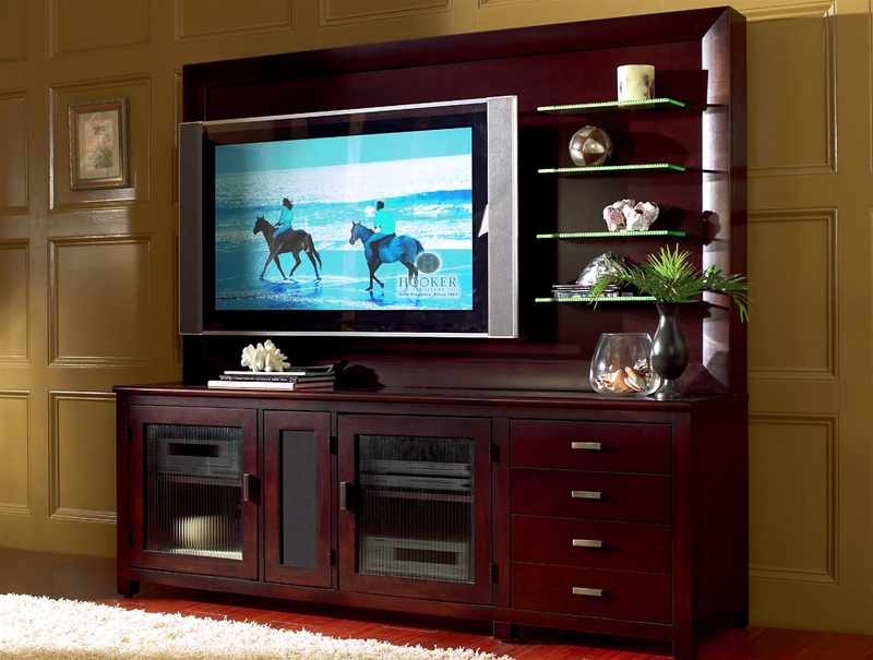 Mirabel 73 Inch Entertainment Console With Lcd Plasma Back