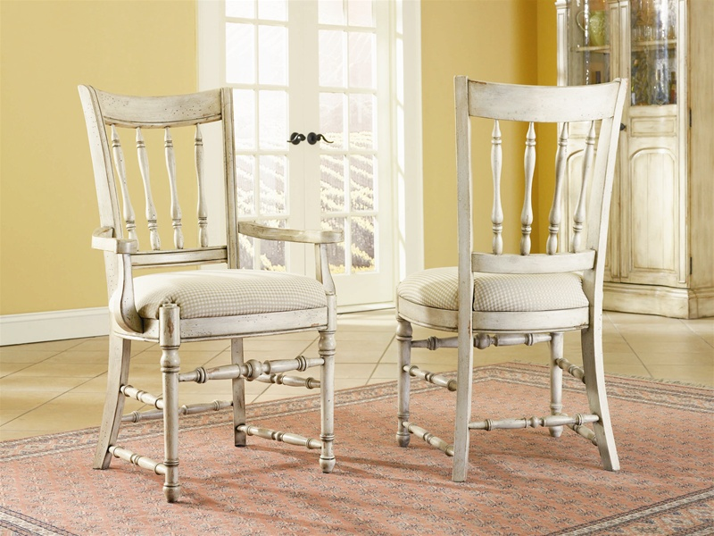 Summerglen 7 Piece Oval Leg Dining Table With Spindle Back Chairs In  Two Tone Off White Finish By Hooker Furniture HF 479 75 200