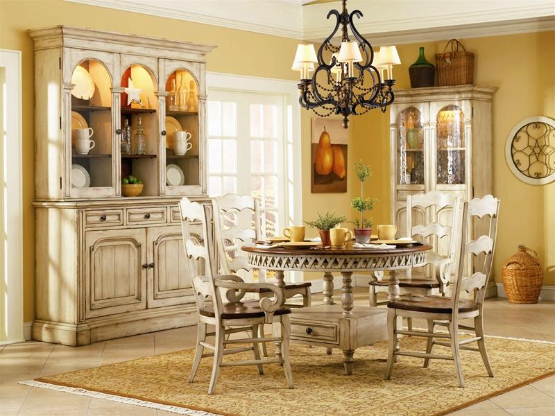 summerglen 5 piece round dining table with three rung ladderback