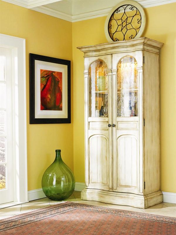 Summerglen Wine Cabinet In Off White Finish By Hooker Furniture  HF 479 75 332