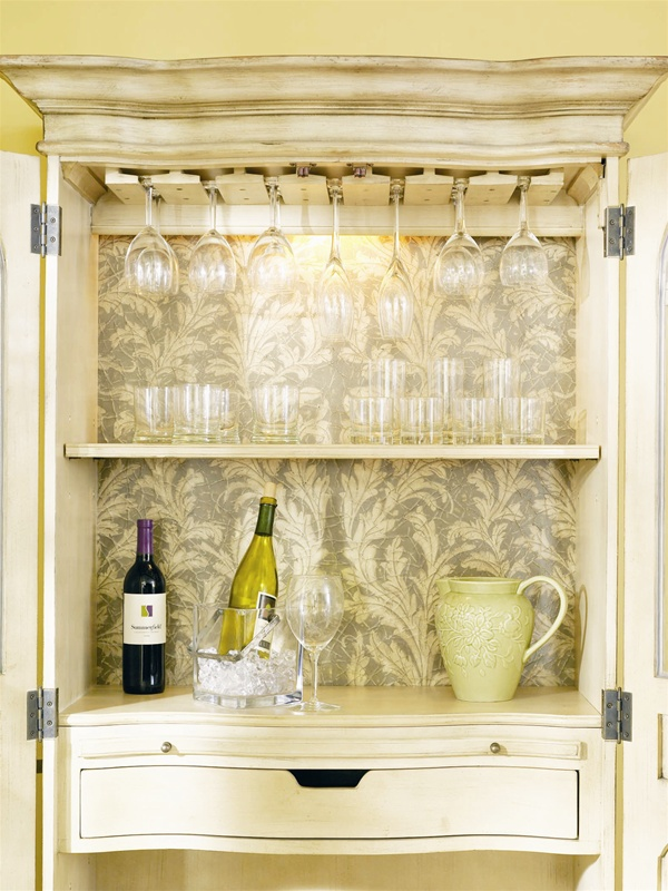 Summerglen Wine Cabinet In Off White Finish By Hooker