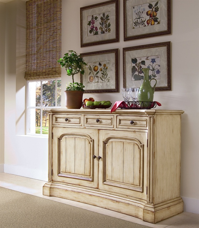 Good Summerglen 62 Inch Buffet And Triple Arch Hutch In Two Tone Off White  Finish By Hooker Furniture HF 479 75 901