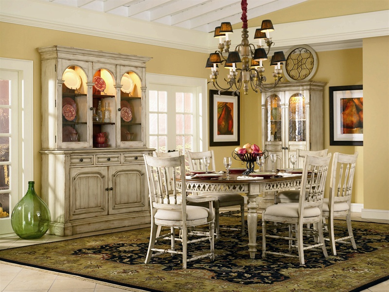 Beautiful Summerglen 62 Inch Buffet And Triple Arch Hutch In Two Tone Off White  Finish By Hooker Furniture HF 479 75 901