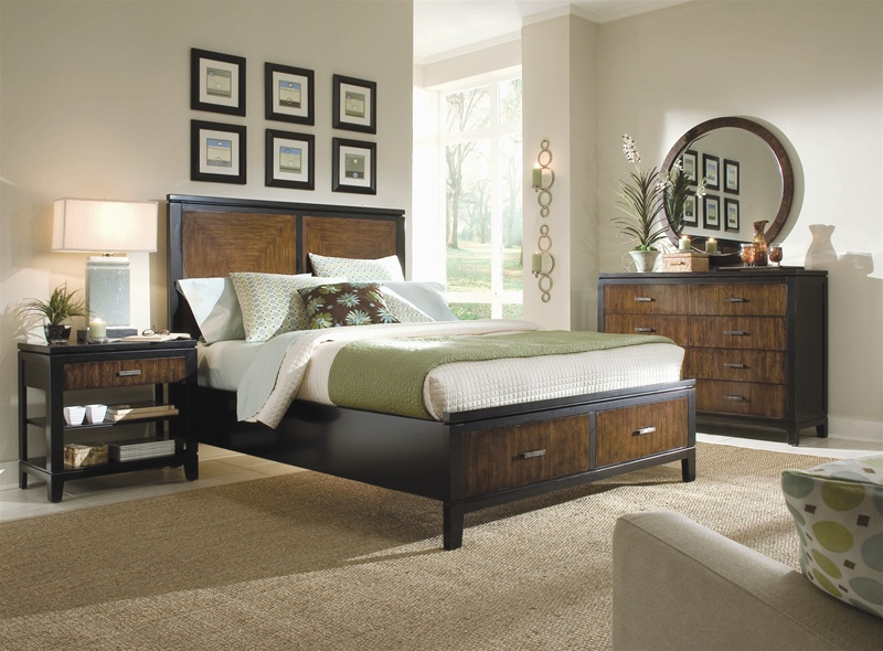 Kinston Storage Platform Panel Bed 6 Piece Bedroom Set In