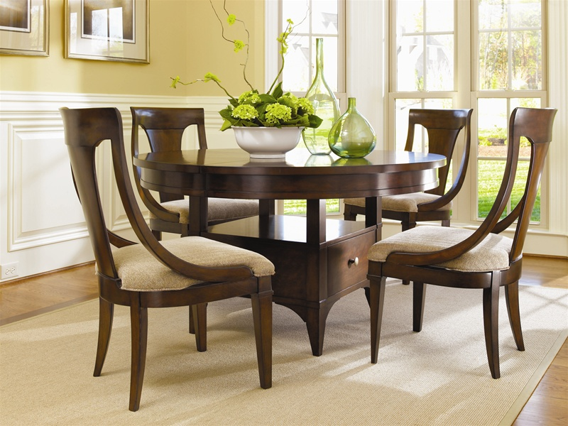 Abbott Place 5 Piece Round Dining/Counter Height Table Set in Rich ...