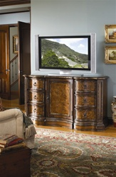Beladora 63-Inch Entertainment Console in Gold Tipping Caramel Finish by Hooker Furniture  HF-698-55-492