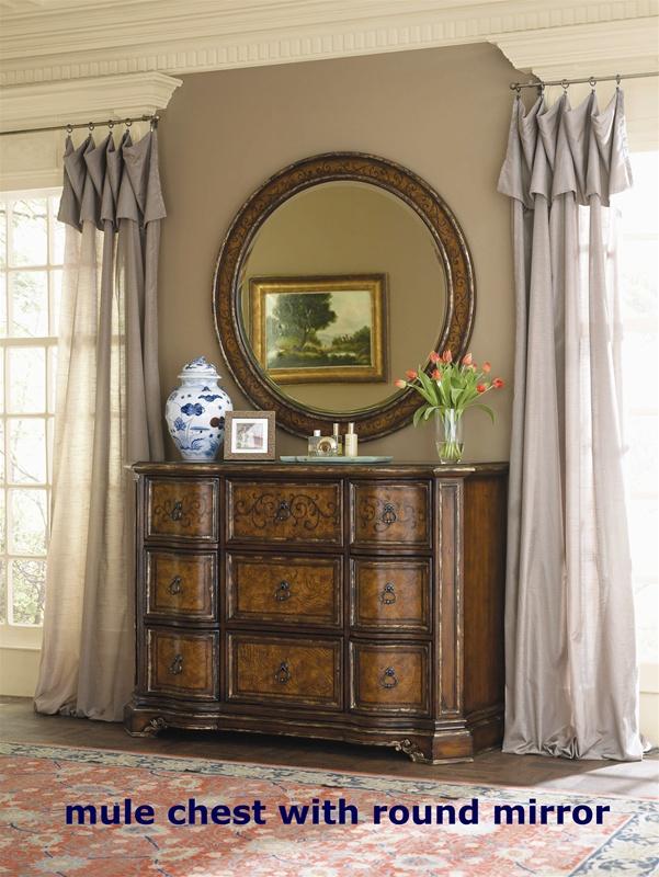 Beladora platform bed 6 piece bedroom set in caramel with for Beladora bedroom set