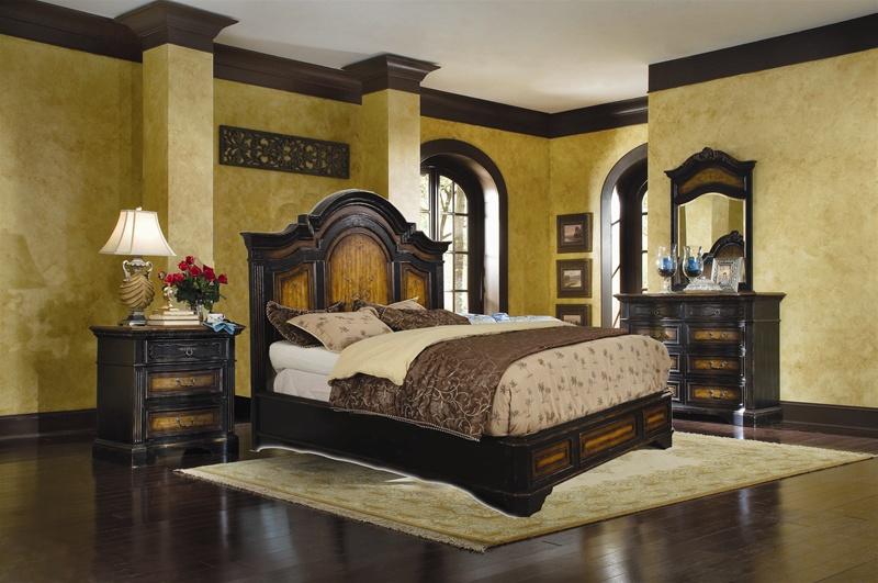 North Hampton Platform Bed 6 Piece Bedroom Set in Two-Tone Finish ...
