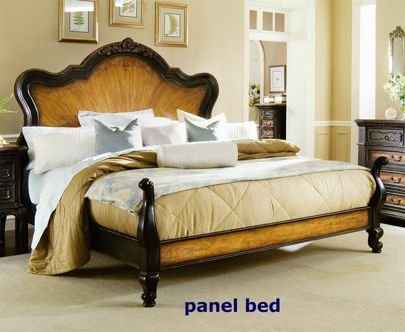 North Hampton Panel Bed 6 Piece Bedroom Set In Two Tone Finish By Hooker  Furniture HF 779 90 240