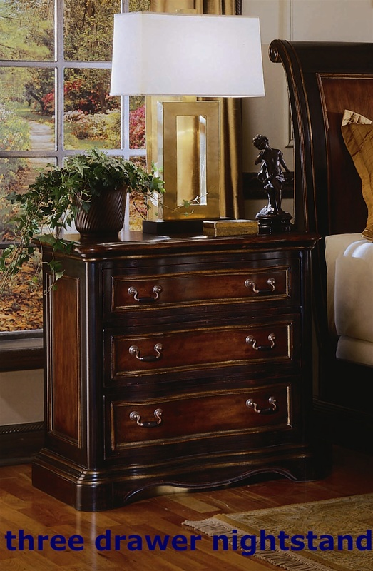 Preston ridge panel bed 6 piece bedroom set in two tone with distressed black finish by hooker Bedroom furniture preston
