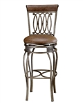 Montelle Swivel Bar Stool by Hillsdale - HIL-41545