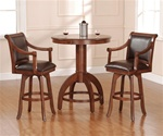 Palm Springs 3 Piece Bistro Table Set in Medium Brown Cherry Finish by Hillsdale Furniture -4185-3