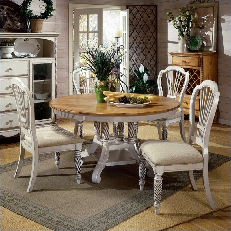 Hillsdale Furniture Bennington 5pc Dining Room Set In: Wilshire 5 Piece Round/Oval Dining Set In Antique White