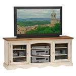Wilshire 66 Inch Entertainment Console in Antique White and Pine Two Tone Finish by Hillsdale Furniture - 4508-880
