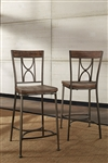 Paddock Non-Swivel Counter Height Stool - Set of 2 by Hillsdale - HIL-5987-823