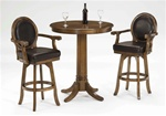 Warrington 3 Piece Bistro Table Set in Medium Brown Cherry Finish by Hillsdale Furniture - 6125-3