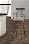 Delk (Indoor/Outdoor) Swivel Bar Stool by Hillsdale - HIL-6300-830
