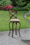 Kinsley (Indoor/Outdoor) Swivel Bar Stool by Hillsdale - HIL-6312-830