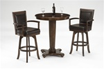 Ambassador 3 Piece Bistro Table Set in Medium Brown Cherry Finish by Hillsdale Furniture -8124-3