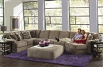 Malibu 3 Piece Sectional in Taupe, Adobe, or Sand Chenille Fabric by Jackson Furniture - 3239-3