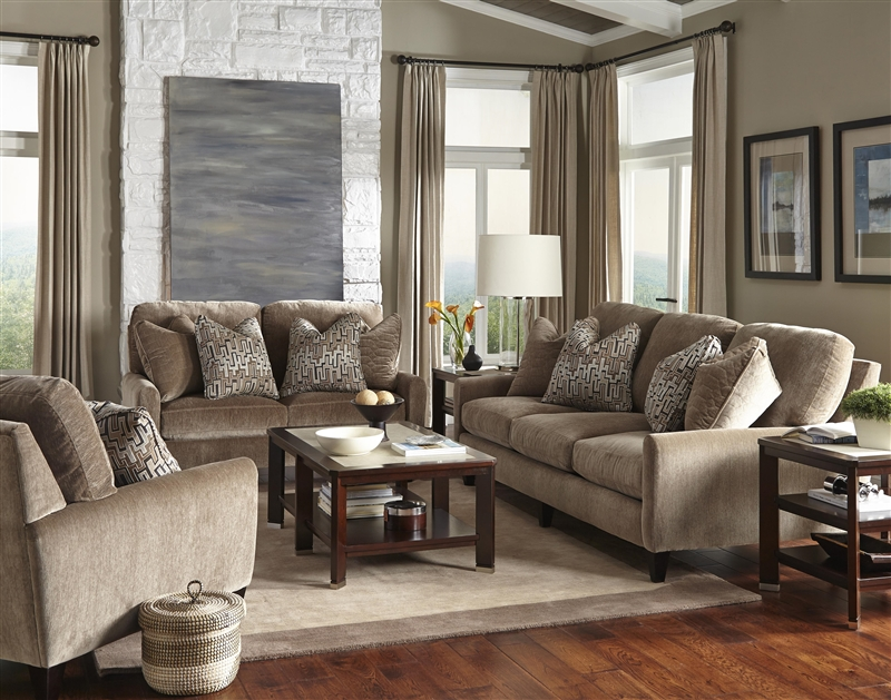 Mulholland 2 Piece Sofa Set In Taupe Fabric By Jackson Furniture