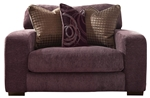 Serena Oversized Chair in Plum Chenille by Jackson Furniture - 3276-01-P