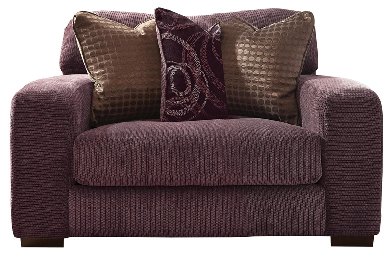 Serena Oversized Chair In Plum Chenille By Jackson